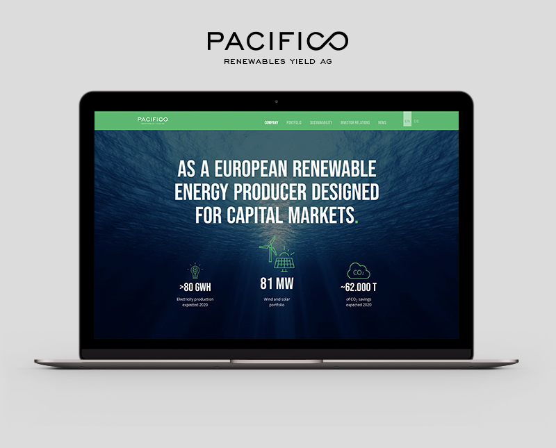 Website Design – Pacifico Renewables / www.pacifico-renewables.com